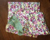 Pink and Green pouch sling, Med