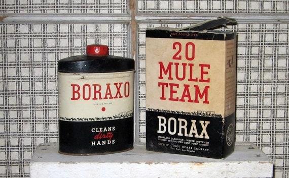 Vintage boraxo tin hand cleaner 20 mule team borax bath for 20 mule team borax swimming pools