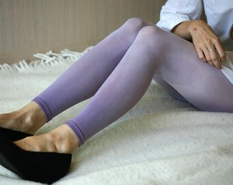 Dyed ombre leggings from darh grey to light grey