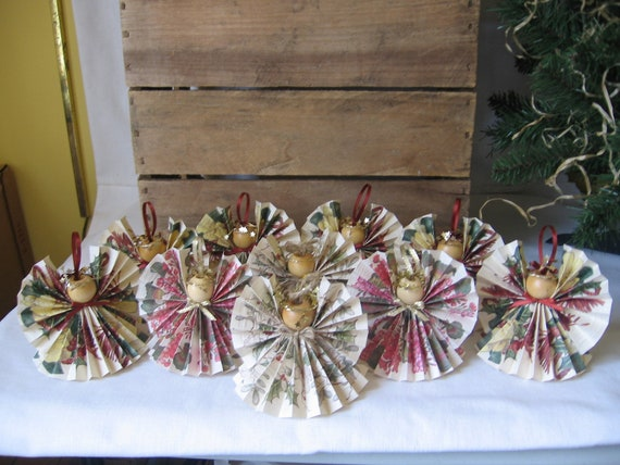 Reserved Listing for Denise 6 Magnolia 2 Holly & 2 Geranium Floral Angel Ornaments
