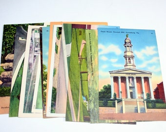 12 Vintage Petersburg Virginia Postcards Blank - Travel Themed Wedding Guestbook