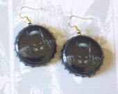 The Dark Knight Batman Recycled Bottle Cap Earrings