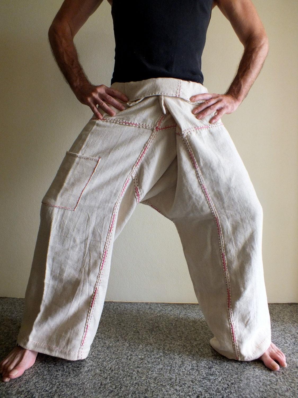 Hemp Handmade pants free size fisherman trousers Yoga pants