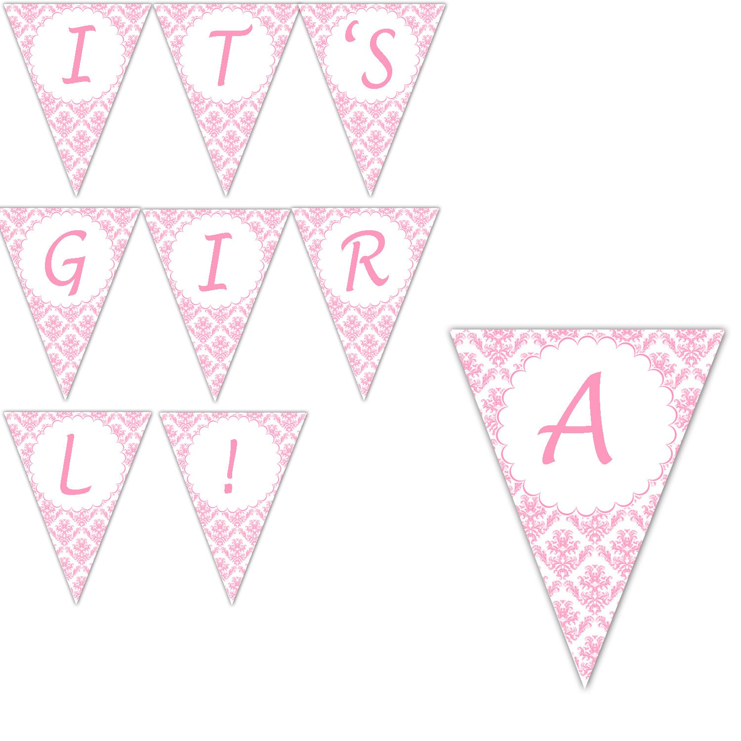 Lively image for printable baby shower banners