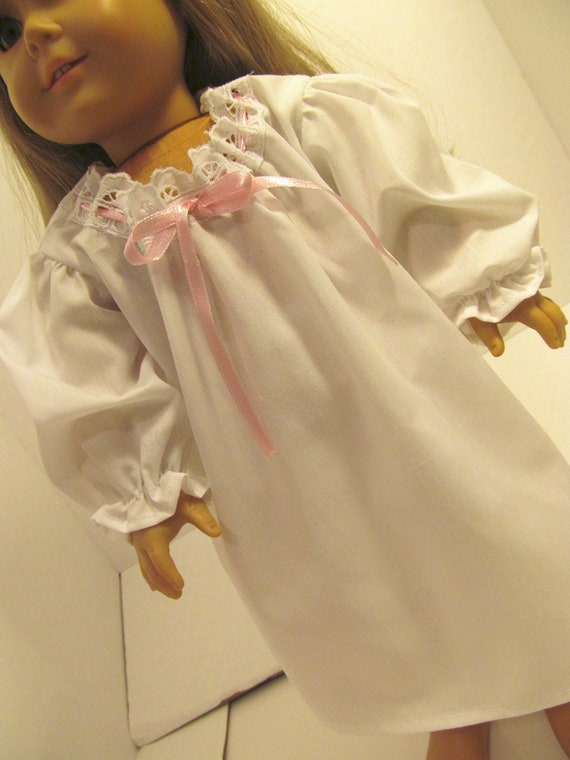 Nightgown with  Eyelet,  American Girl Doll Clothes