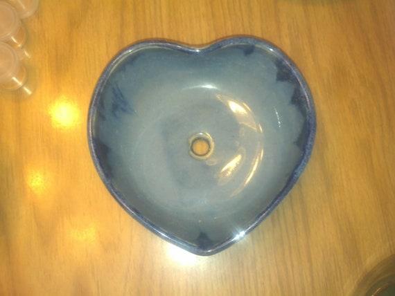 Blue Heart Bowl