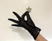 Elegant Sheer  Black Evening Gloves