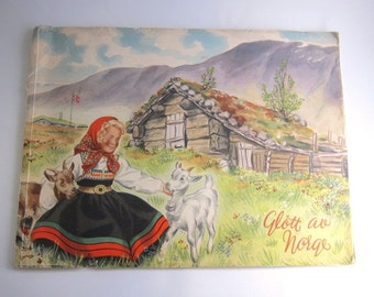 Glimpses of Norway, Glott au Norge, Beautiful Vintage Photo Book