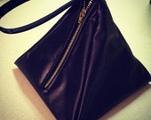 "Black Vegan Leather ""Cleopatra"" Pyramid Wristlet - Made to Order"