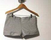 Custom Order, Reserved - Gray Resort Shorts with Side Zipper