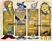 Wizard of OZ Bookmarks paper arts and Craft project