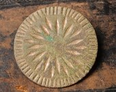 Antique huge brass Button.