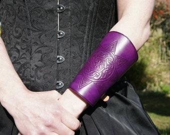 Pagan / Celtic Leather Bracer