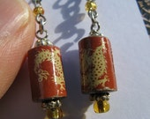Chinese Dragon Design Year Of The Dragon Earrings by Earth Kentro
