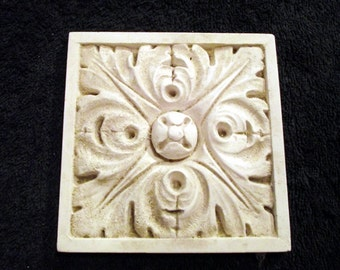 Plaster cast, Classical design tile, or paperweight