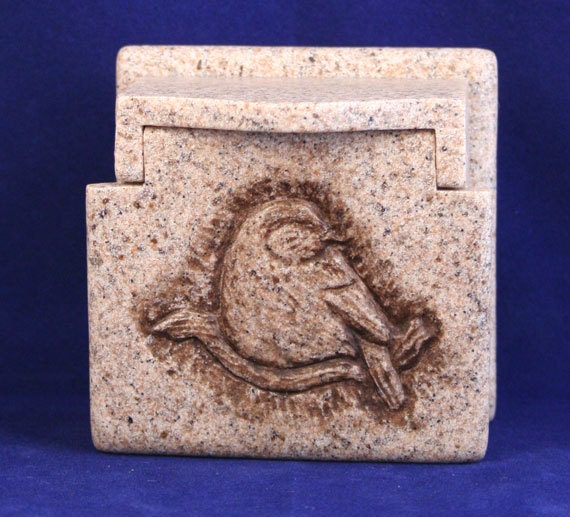 Box small granite style trinket with by