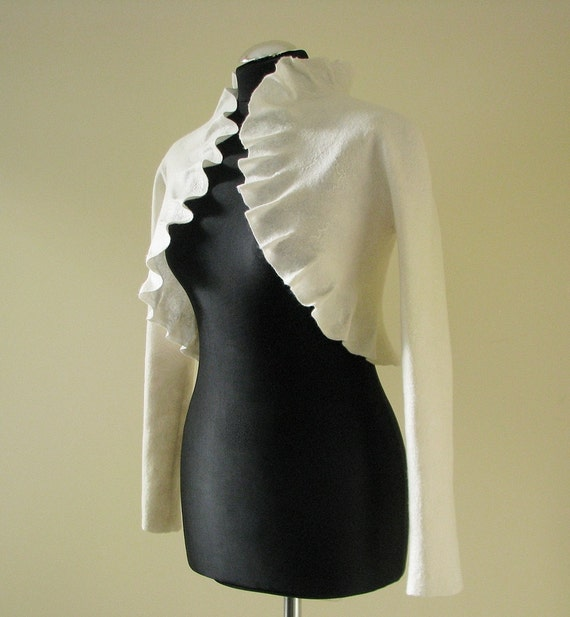Spring weddings bridal bolero with long sleeves