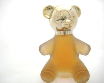 Vintage Avon Perfume Bottle - Avon Sweet Honesty in a Clear Teddy Bear Bottle.