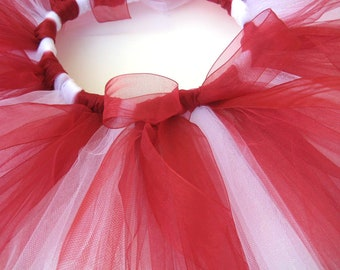 Red and White Tutu - Girls, Toddlers, Infants Photo Prop or Just for Fun