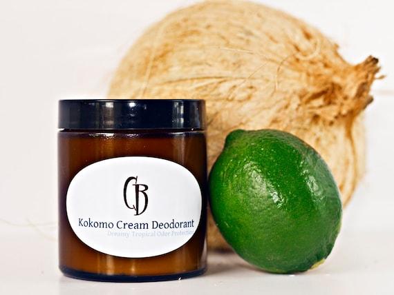Kokomo Cream Natural Deodorant - Handmade Creamy, Dreamy Tropical Organic- 4.75 oz With Recipe