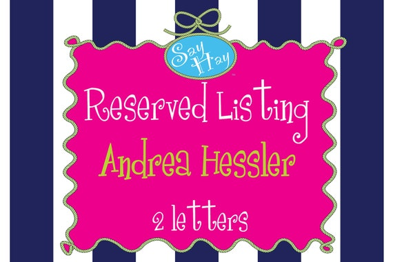 Custom Listing for Andrea Hessler