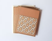 Ikat Note Cards - Set of 4 - Handmade Note Card Set