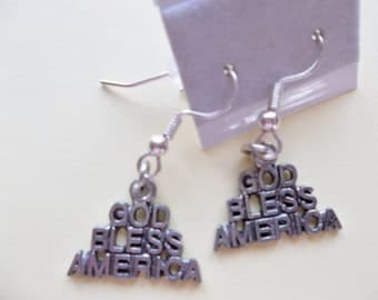 God Bless America Charm Earrings