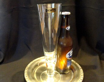 Pilsner Beer Hand Blown Glasses by Toscany Glass of Romania One Set of Four Glasses