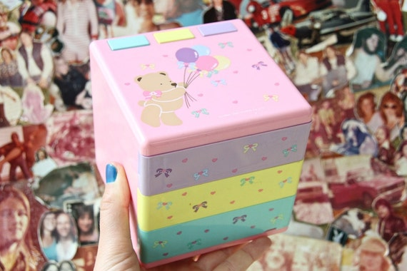 SANRIO middle school jewelry box, bears bows and balloons