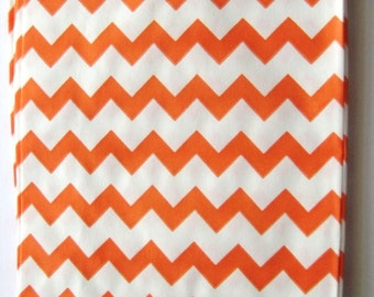20 Orange Chevron Bitty Bags - Party Favor - Candy - Party Supplies A119