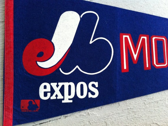 Vintage Montreal Expos Sports Pennant 1969 Great Vintage Home