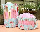 Ultimate Knitters & Crochet tote PDF Pattern, craft tote, knitting bag, tote bag, crochet storage, craft storage, sewing pattern, diy