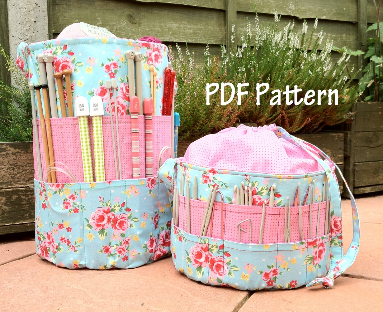 Ultimate Knitters & Crochet tote PDF Pattern craft by ...