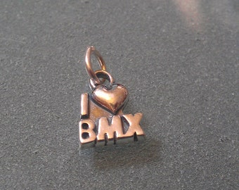 "Sterling Silver I ""heart"" BMX Charm - CHIBMX01"