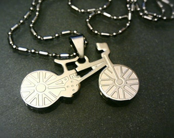 BMX Bike Laser Cut Pendant and Necklace - UNSTNL01