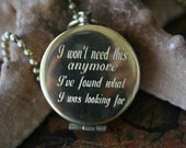 47 mm Brass personalized compass with custom writing personalized necklace monogram