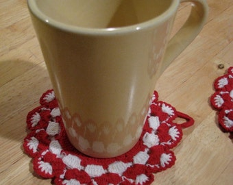 Vintage Crocheted Set Of Coasters/Doilies