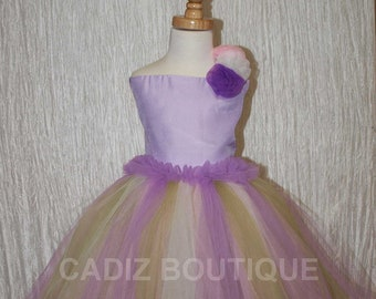 Lavender Tutu Outfit - Size 2T - 3T (Larger Sizes Available)