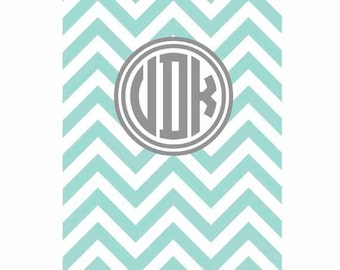 "Kindle Fire or Kindle Fire HD 7"" 2012 model Faux case cover Personalized Custom Chevron"