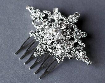 Rhinestone Bridal Hair Comb Accessory Wedding Jewelry Crystal Flower Side Tiara CM034LX