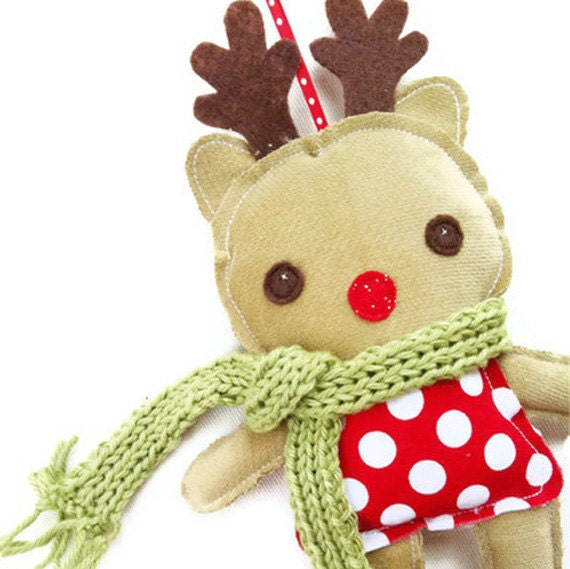 Items Similar To Christmas Sewing Pattern Reindeer