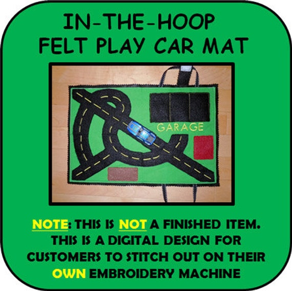In The Hoop Play Car Mat Embroidery Machine By