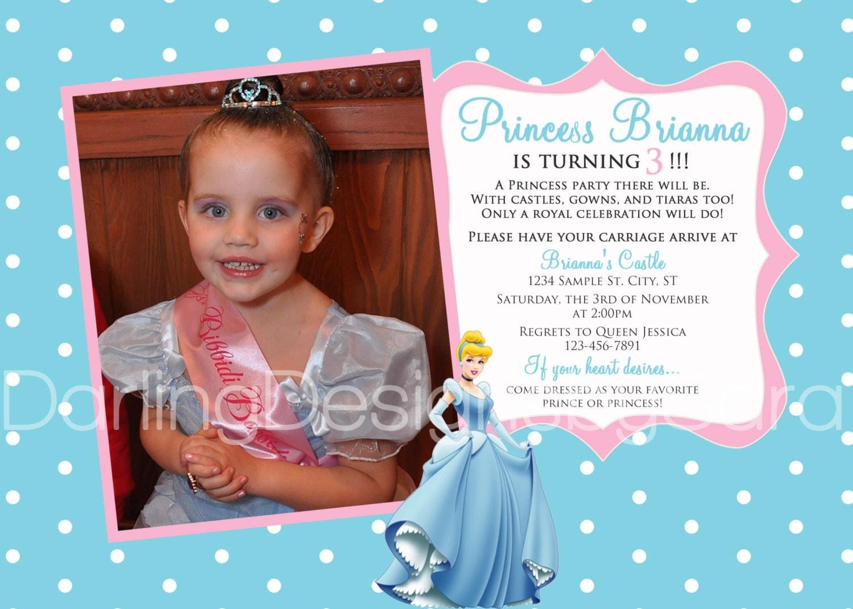 Similiar Disney Princess 3rd Birthday Invitations Keywords – 3rd Birthday Invite Wording