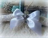 Wedding Dress hanger, WHITE satin and lovely