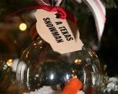 A Texas Snowman Ornament