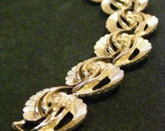 On Sale Platinum Finish Modernist Statement Bracelet