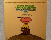 A Boy Named Charlie Brown Sound Track by Vince Guaraldi Trio 1964 Record Album Music LP Collectible Album Cover Art Fantasy Records