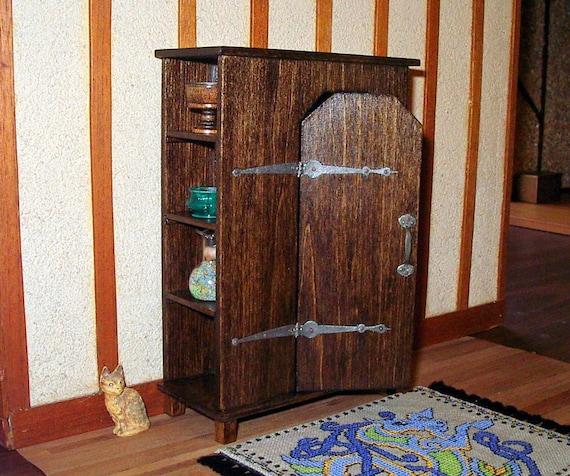 Wardrobe Cabinet, Medieval Dollhouse Miniature 1/12 Scale