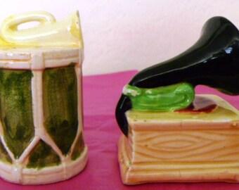 Vintage Musical Salt & Pepper Shakers