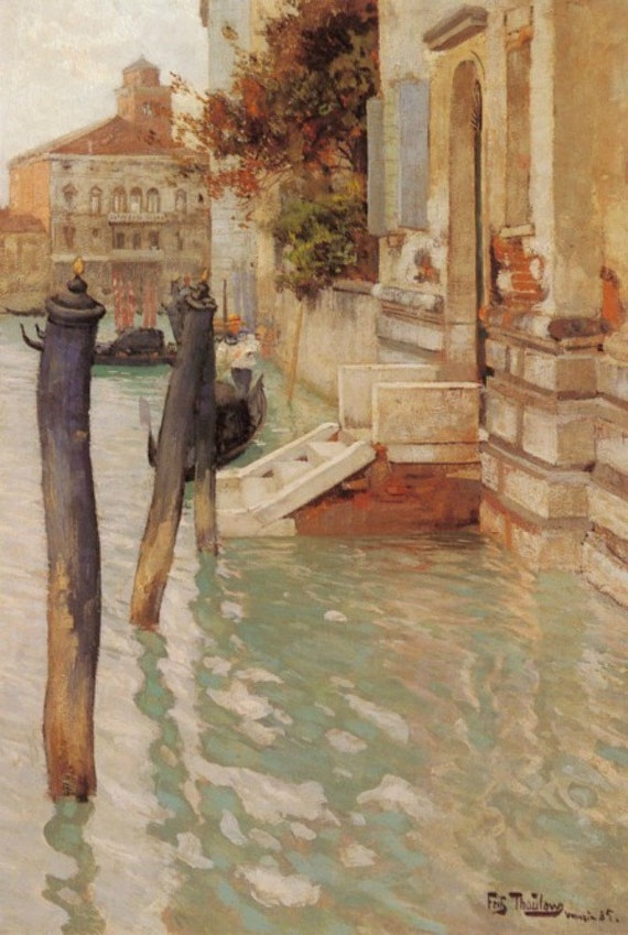 On the Grand Canal, Venice - Cross stitch pattern pdf format